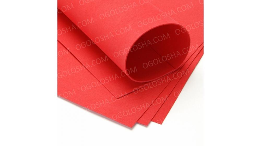 Фоамиран иранский красного цвета, 60*70