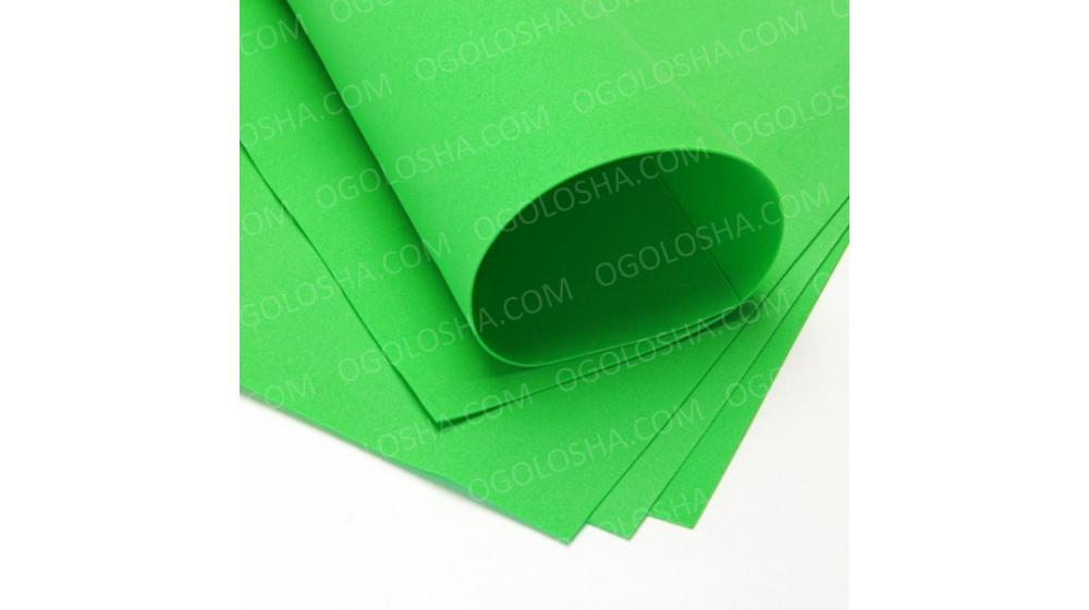 Фоамиран иранский светло-зеленого цвета, 60*70
