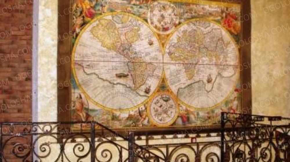 Географические  карты для кабинета под заказ