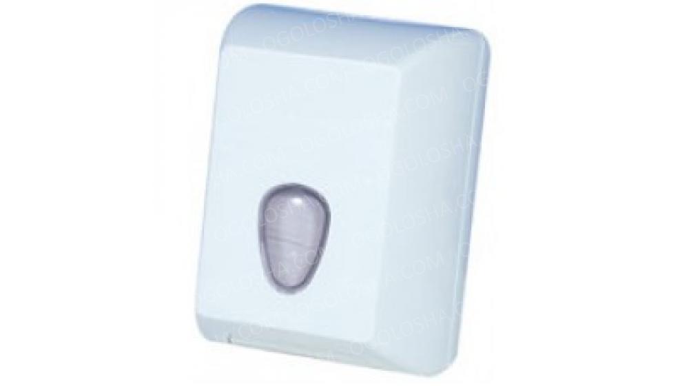 Держатель туалетной бумаги V пластик белый   РАСПРОДАЖА