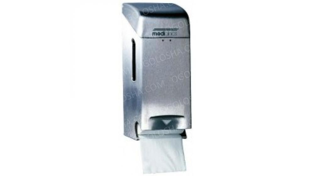 Держатель туалетной бумаги нержавейка матовая на 2 рулона