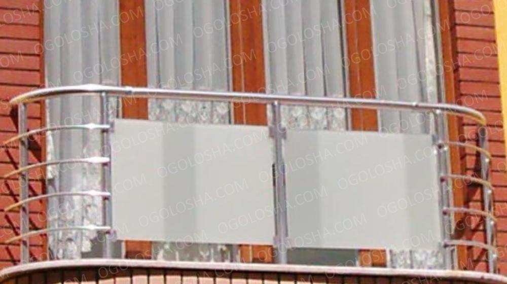 Балконы и балконные ограждения из нержавеющ - киев.