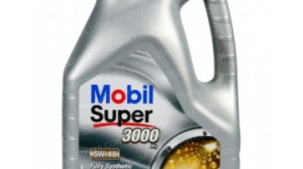 MOBIL 4л Super 3000 5W-40 Масло синтетическое