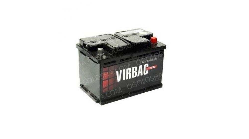 Аккумулятор (АКБ) VIRBAC classic 6СТ-75-АЗ(0) 540A