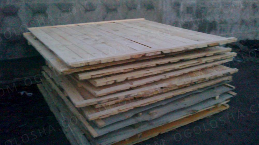Щит для забора деревянный строительный Сосна