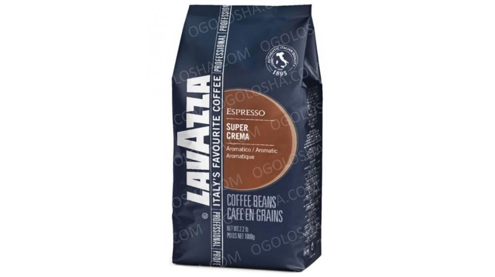 Кофе в зернах Lavazza Super Crema 1 кг Оптовые цены