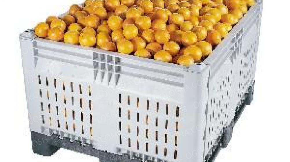 Пластиковые разборные контейнера, Б/У, перфорированные. Для хранения яблок, овощей.