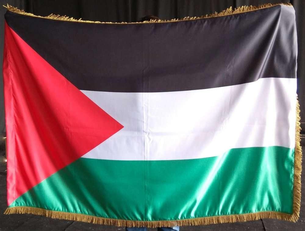 Флаг Палестины атласный