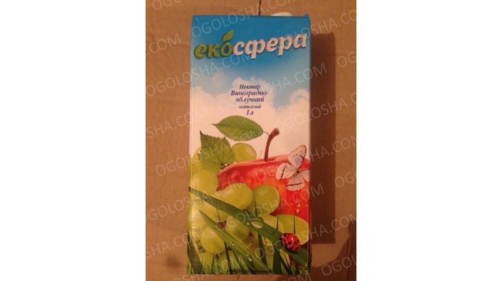 """""""ЕКОСФЕРА """"  сок виноградно-яблочный"""