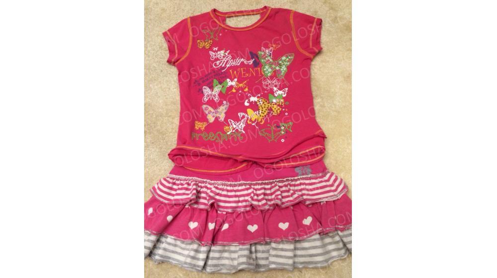 Продается костюм (футболка+юбка) для девочки 8-12 лет