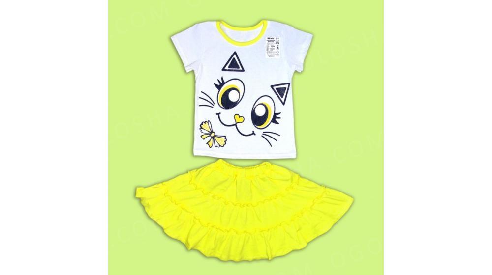Костю для девочки Кошечка желтый