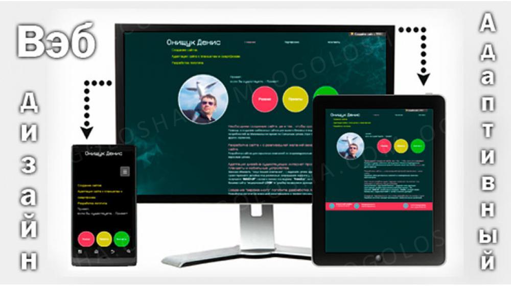 Заказать сайт быстро и дешево! Cоздание сайта от 300грн. Адаптация Вашего сайта к планшетам и моб.тел. от 500