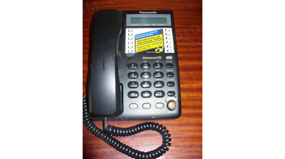 Стационарный телефон Panasonic (черный)