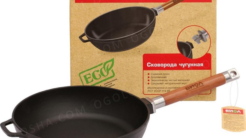 Сковорода чугунная Биол 24 см (0324)