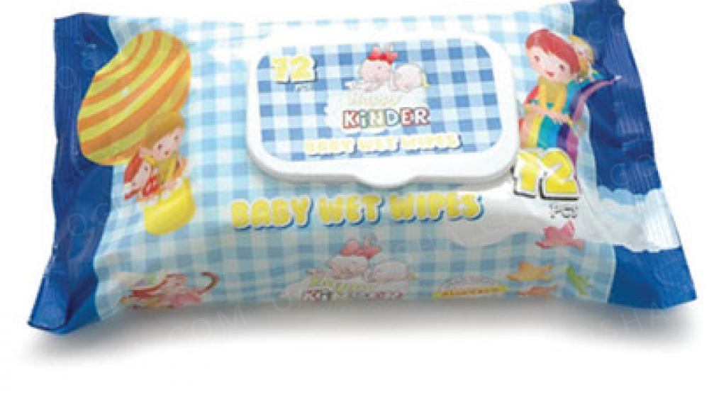 Влажные детские салфетки с клапаном Happy Kinder