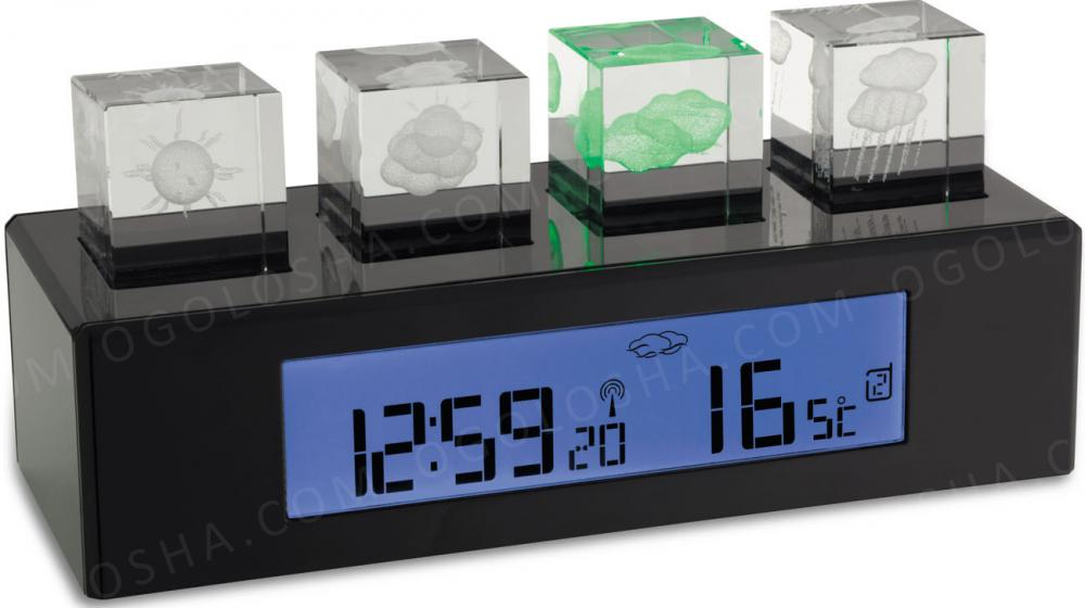 "Метеостанция TFA ""Crystal Cube"", 78x180x69 мм"