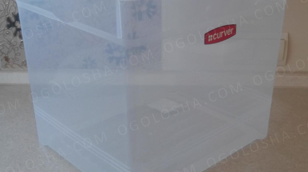 Контейнер прозрачный CURVER 33л. для хранения вещей, игрушек, обуви