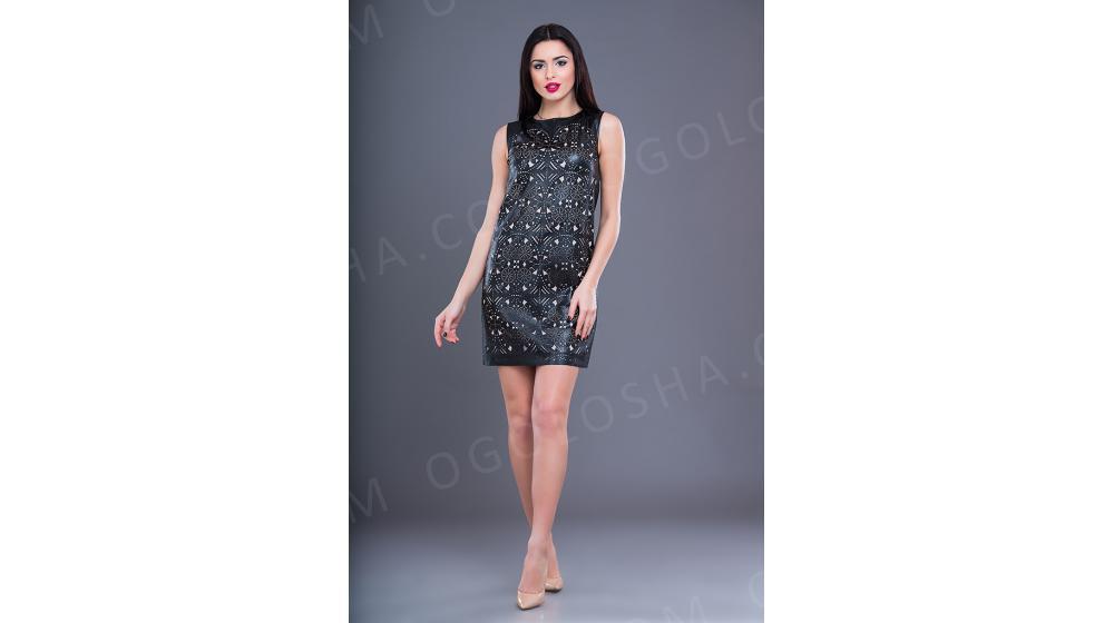 Оптовый производитель женской одежды VOKARI   Платье из экокожи