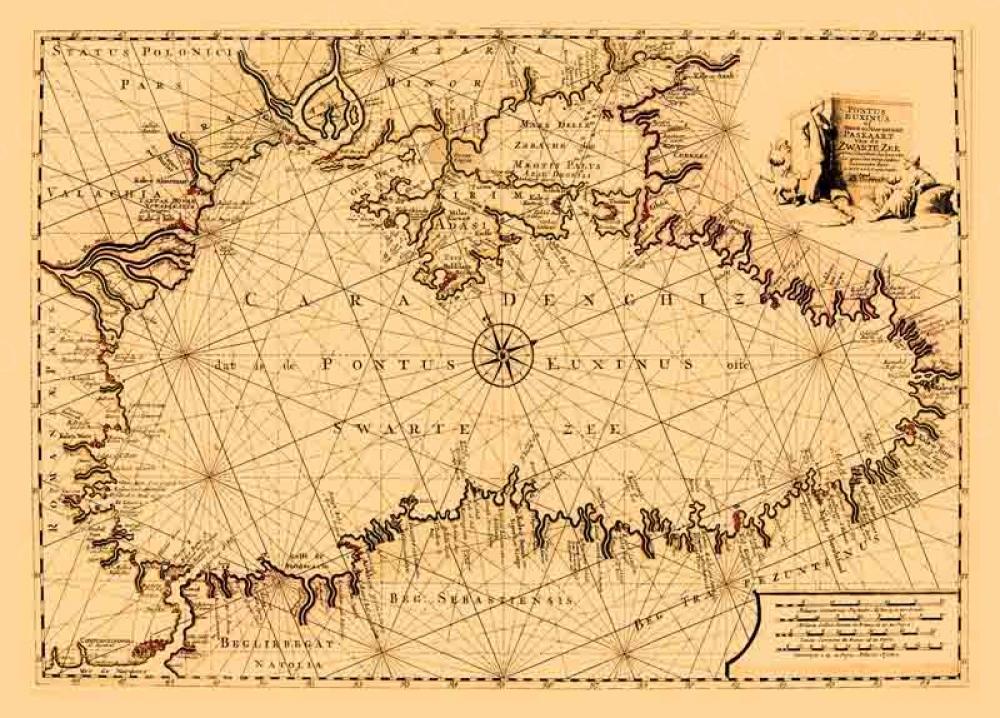 Элитный подарок - Портолан Черного моря 1745г.