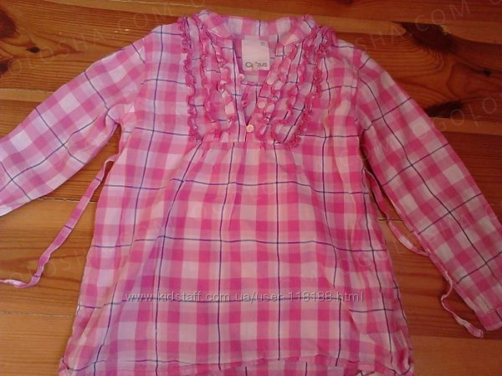 стильная рубашка туника 104 см