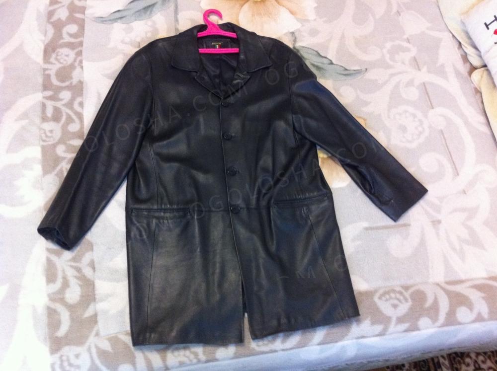 Кожаный мужской пиджак (френч).