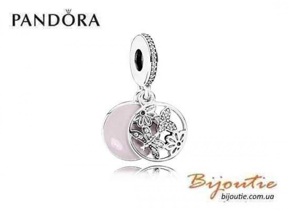 Pandora Шарм ЦВЕТОЧНОЕ НАСТРОЕНИЕ 791843EN40 серебро 925 золото 14к Пандора оригинал