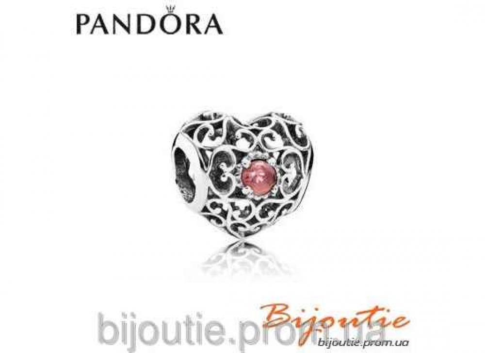 Pandora шарм СЕРДЦЕ-ТАЛИСМАН 791784GR серебро 925 Пандора оригинал
