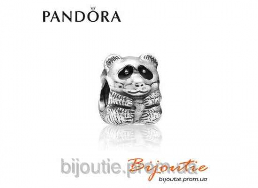 Pandora шарм ПАНДА №790490EN16 серебро 925 Пандора оригинал