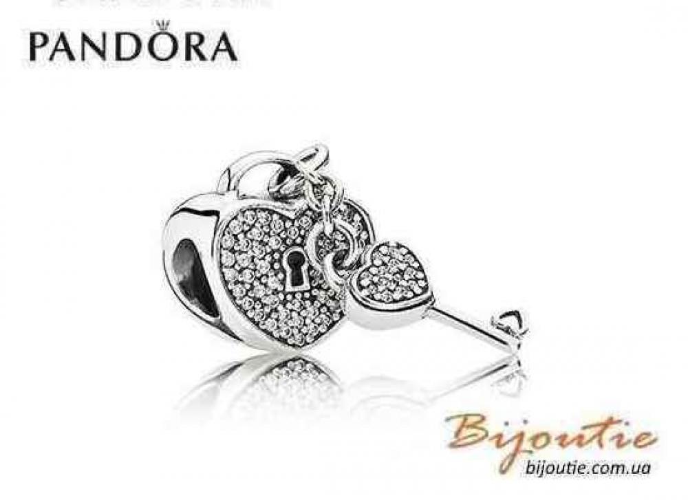 Pandora шарм КЛЮЧ К СЕРДЦУ №791429CZ серебро 925 Пандора оригинал