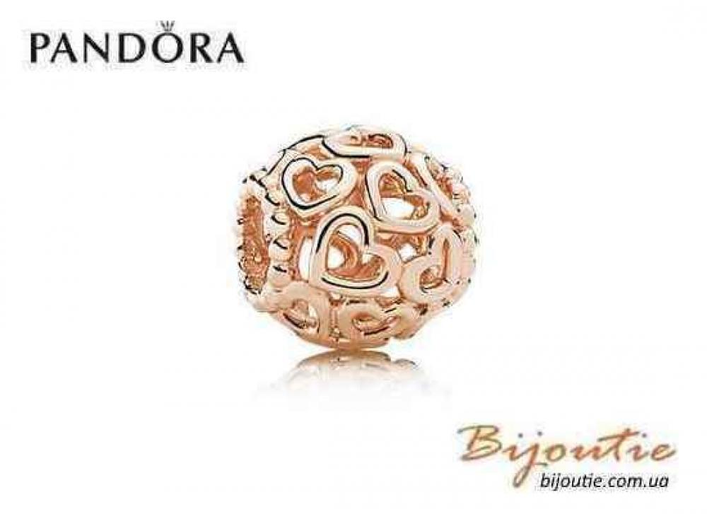 Pandora Шарм ОТКРОЙТЕ СВОЕ СЕРДЦЕ 780964 PANDORA Rose Пандора оригинал