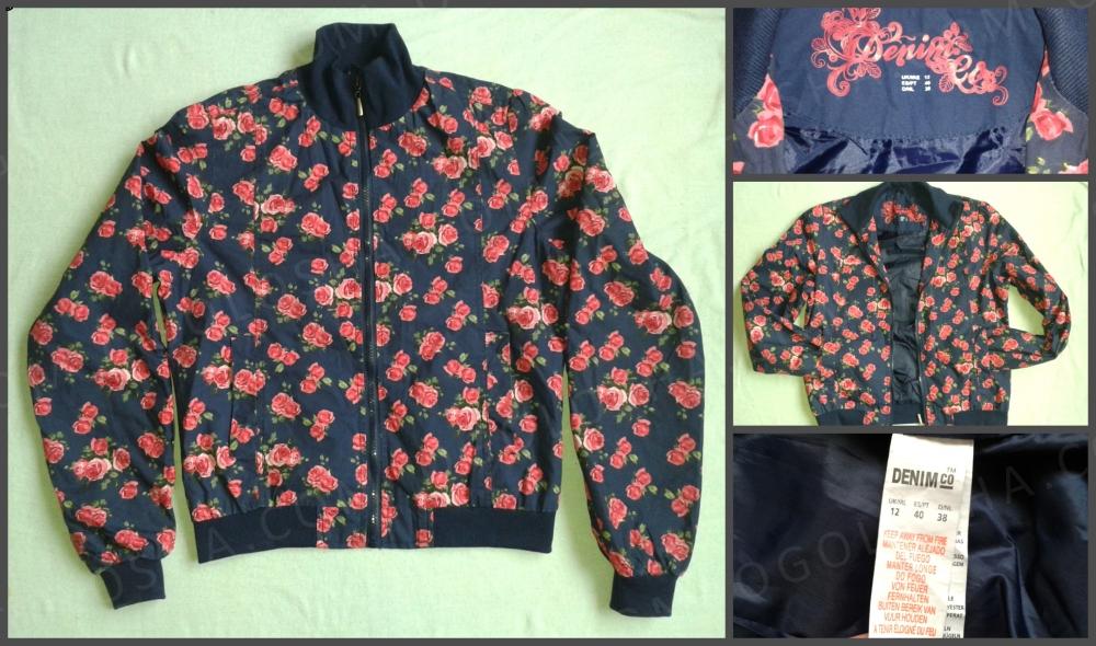 Женская куртка легкая с цветочным принтом