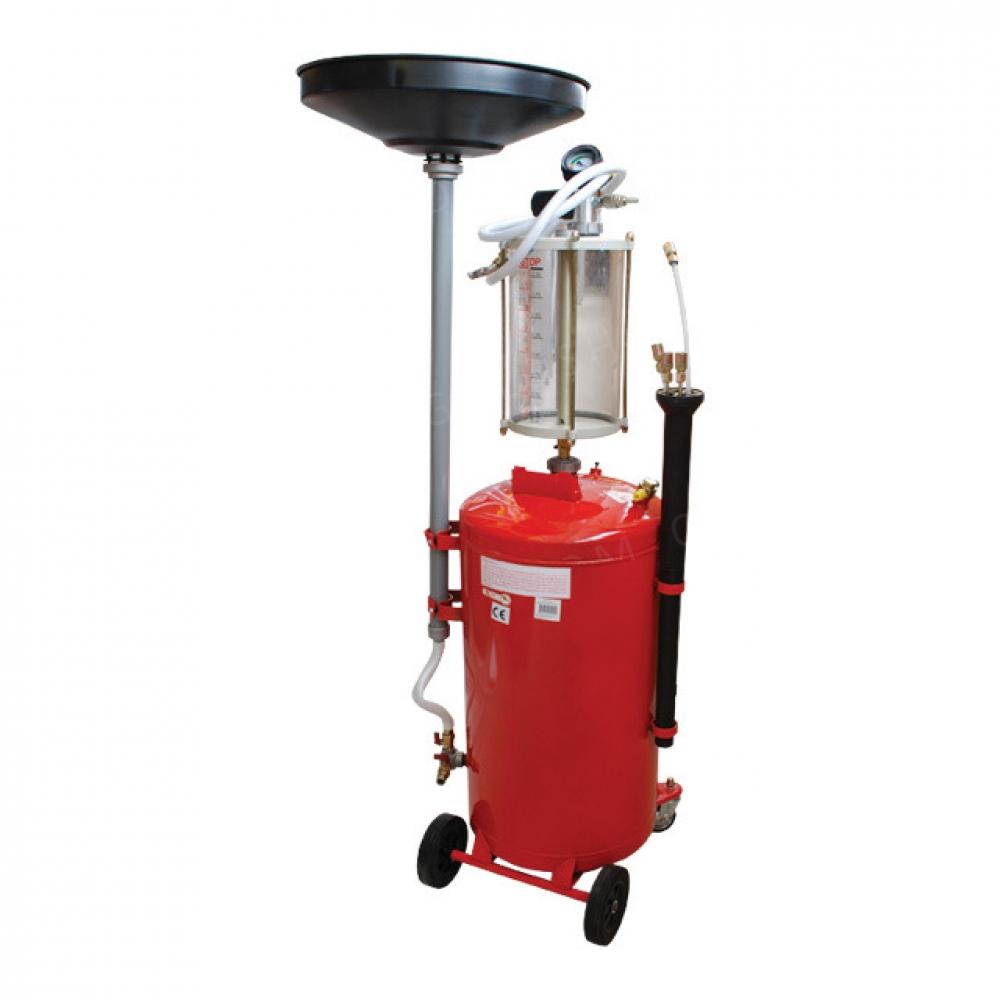 Установка вакуумная для слива масла с предкамерой и  INTERTOOL GT2100