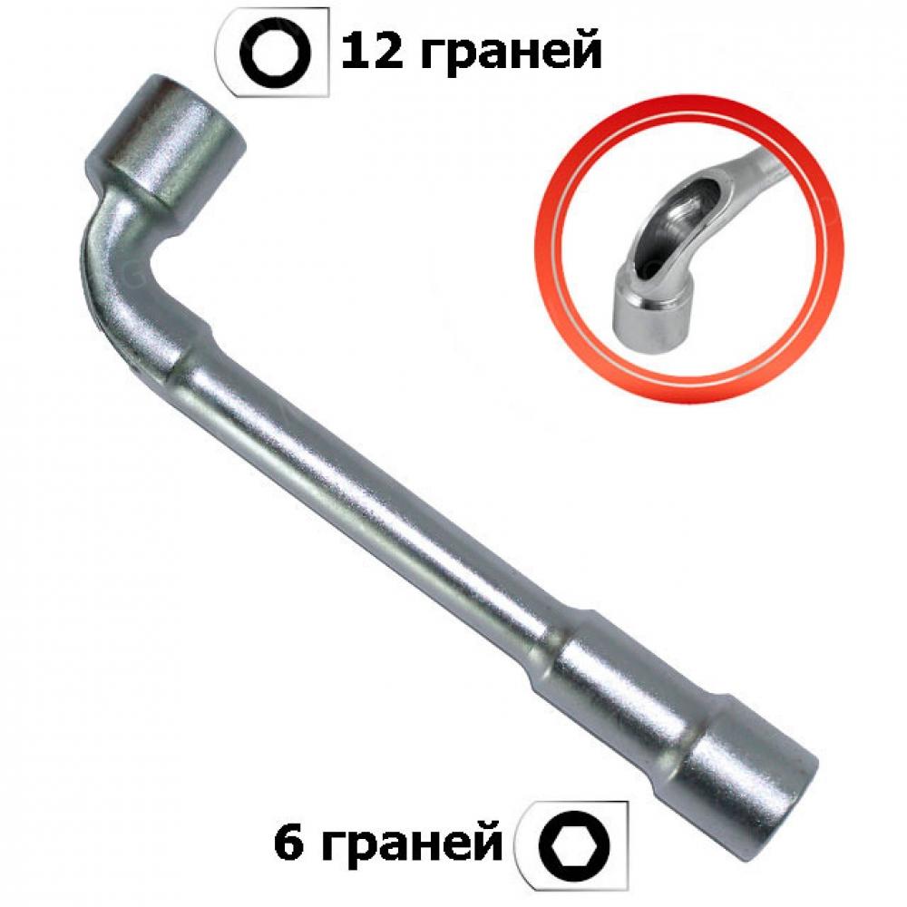Ключ торцовый с отверстием L-образный 18мм INTERTOOL HT-1618