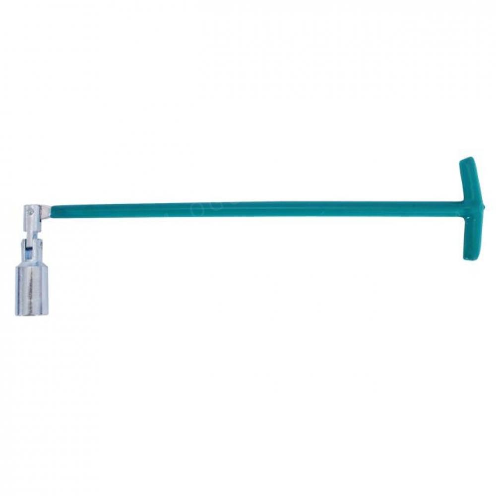 Свечной ключ Т-образный с шарниром 16х500мм INTERTOOL HT-1718