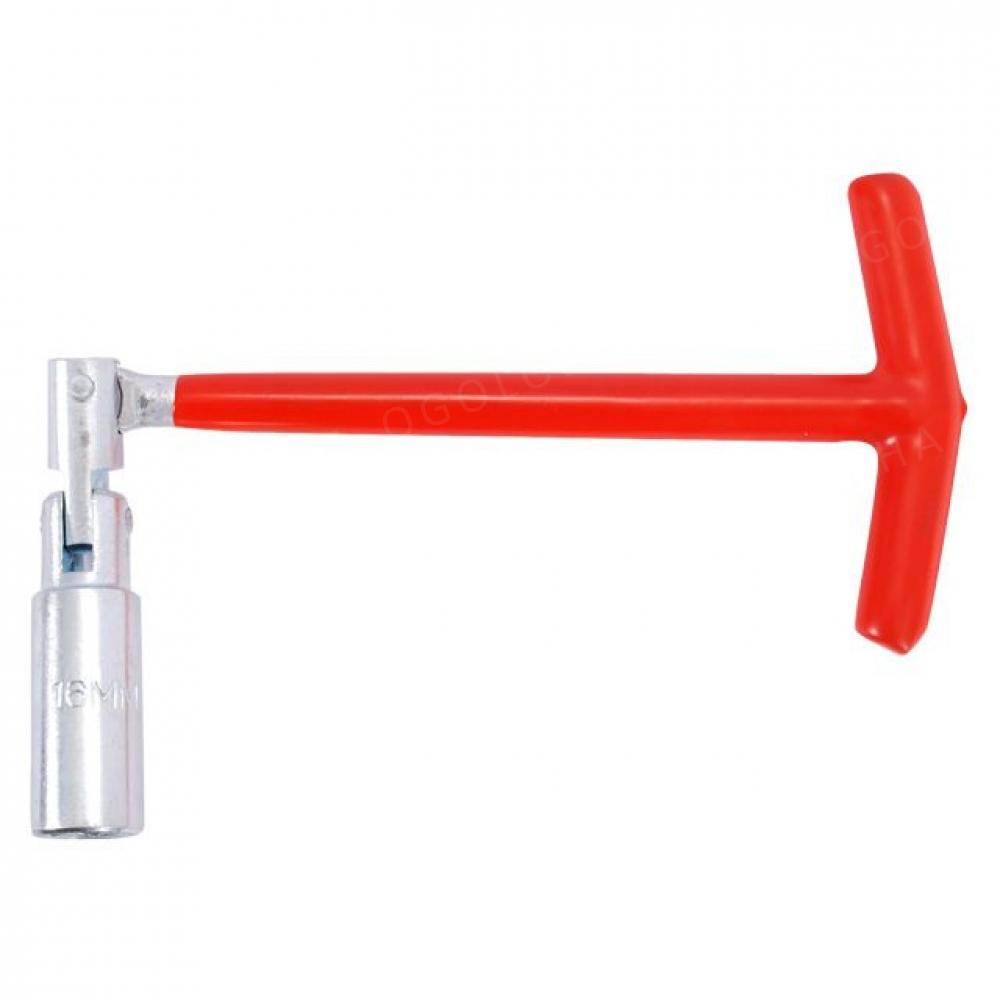 Свечной ключ Т-образный с шарниром 21х250мм INTERTOOL HT-1722