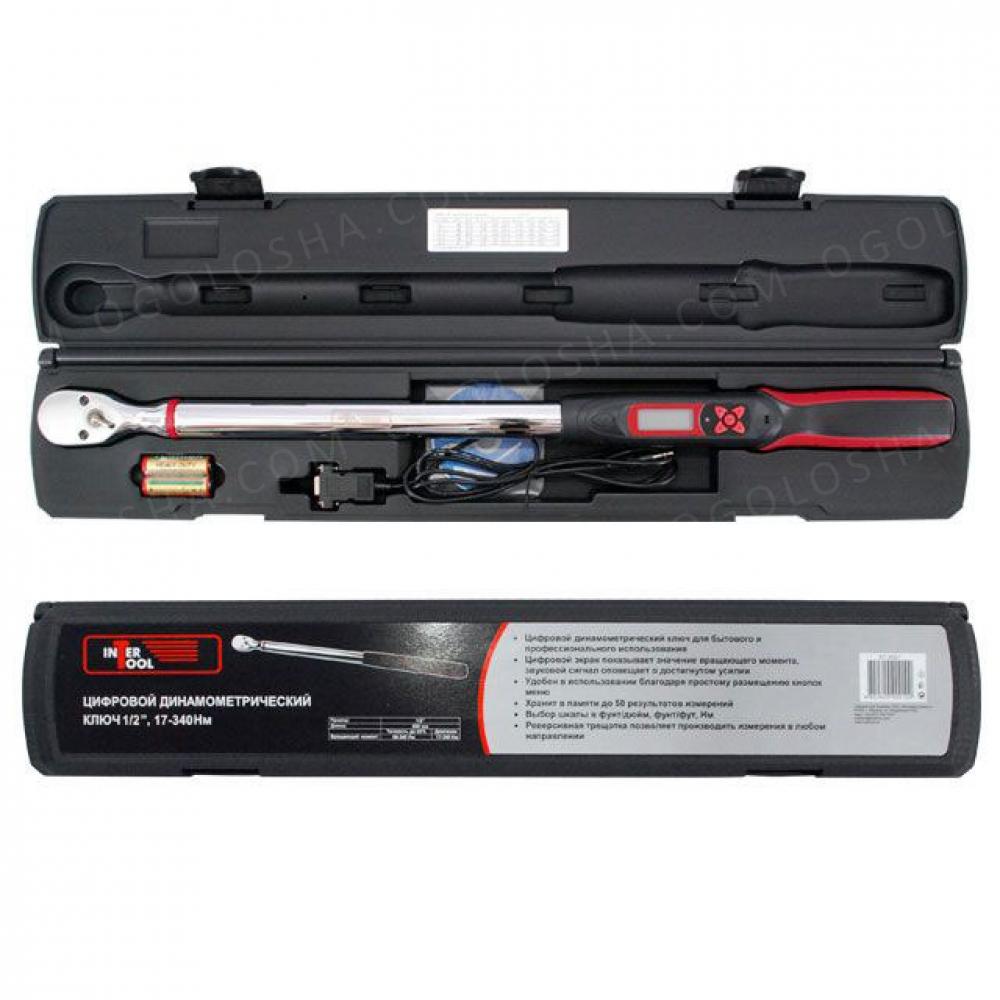 Динамометрический ключ электронный 1/2 68-340 N.m INTERTOOL XT-9021
