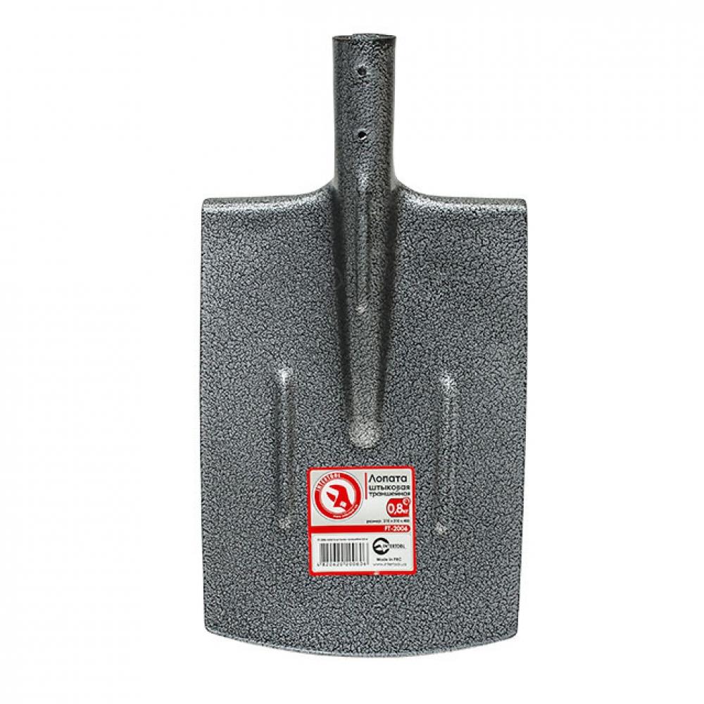 Лопата штыковая траншейная 0,8 кг INTERTOOL FT-2006