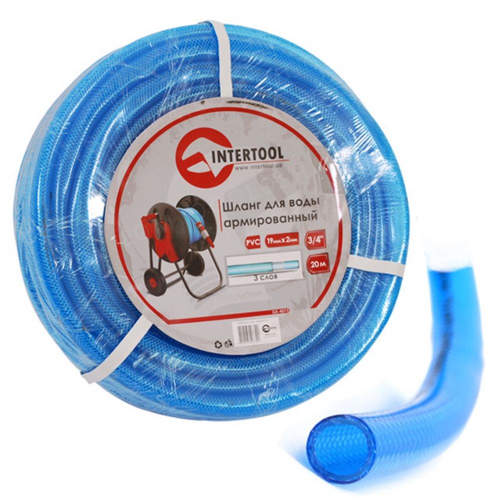 Шланг для воды 3-х слойный 3/4 30м, армированный PV INTERTOOL GE-4075