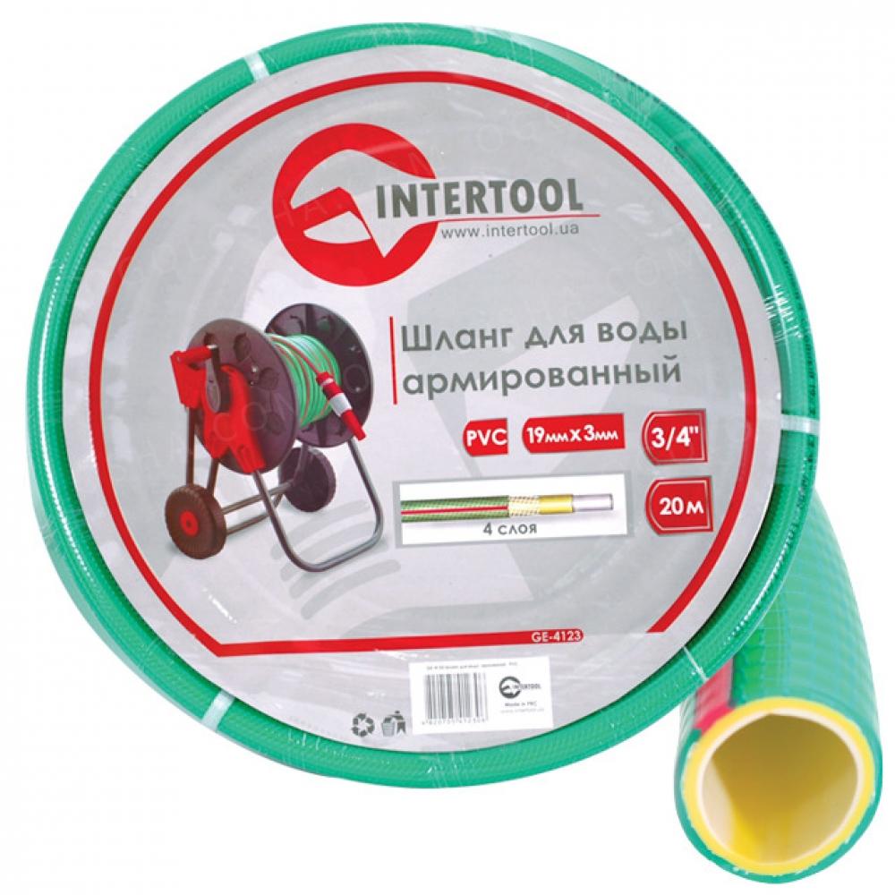 Шланг для воды 4-х слойный 1/2 20м, армированный, P INTERTOOL GE-4103