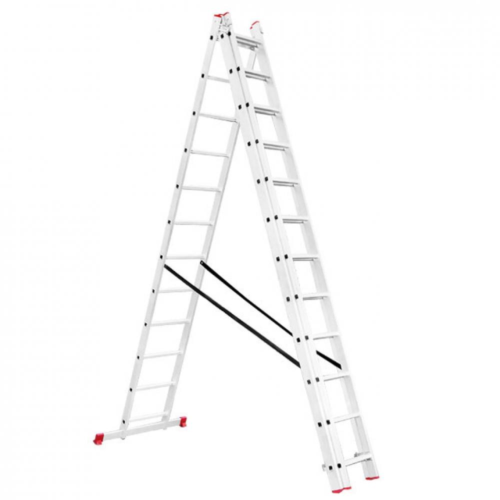 Лестница алюминиевая 3-х секционная универсальная ра INTERTOOL LT-0312