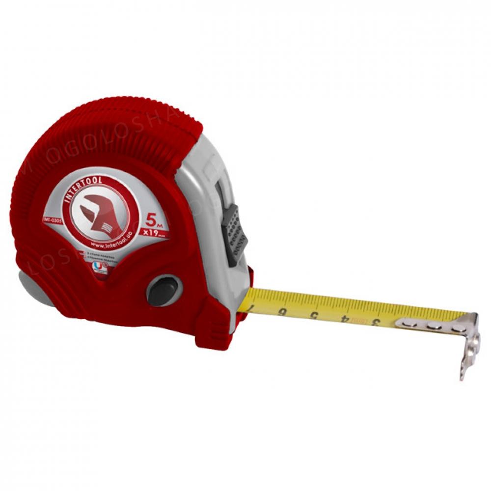 Рулетка с фиксатором 10м*25мм Супер Магнит blister INTERTOOL MT-0310