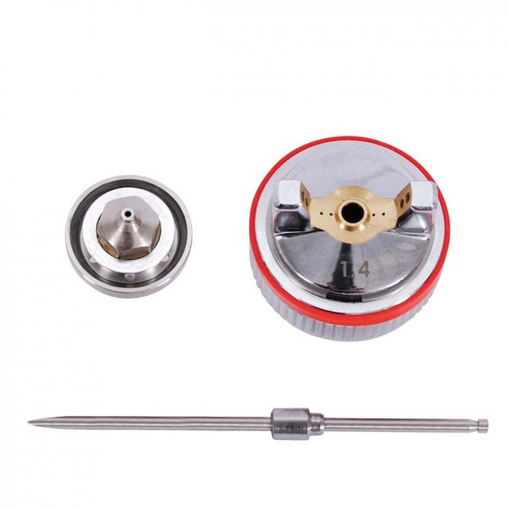 Комплект форсунок HVLP II 1,4mm к PT-0100, PT-0105 INTERTOOL PT-2114