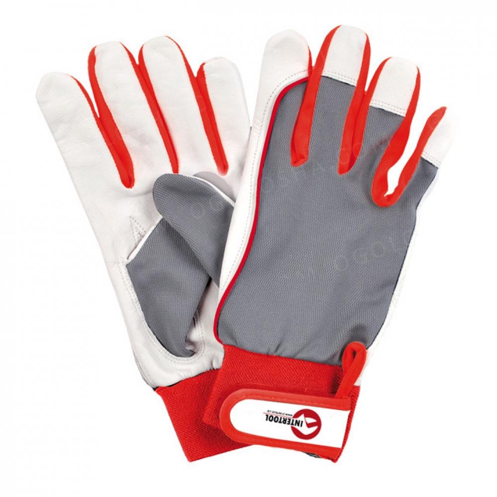 Перчатка комбинированная из высококачественной козье INTERTOOL SP-0011