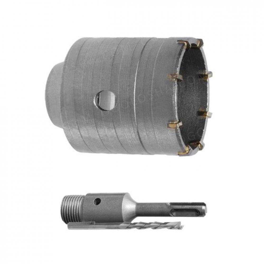 Комплект: сверло корончатое по бетону 105мм + перехо INTERTOOL SD-7105
