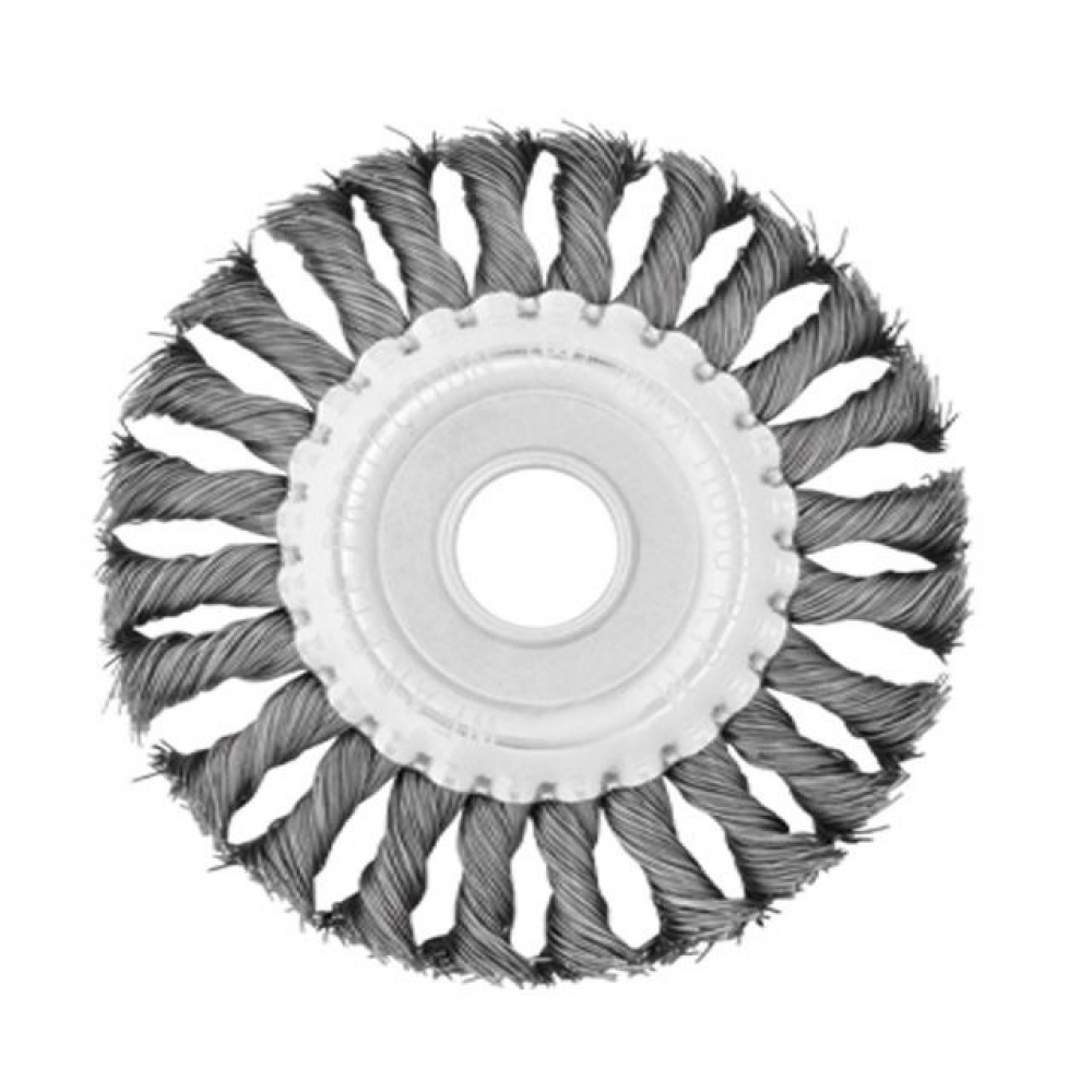 Щетка кольцевая 180*22.2мм (пучки витой проволоки) INTERTOOL BT-7180