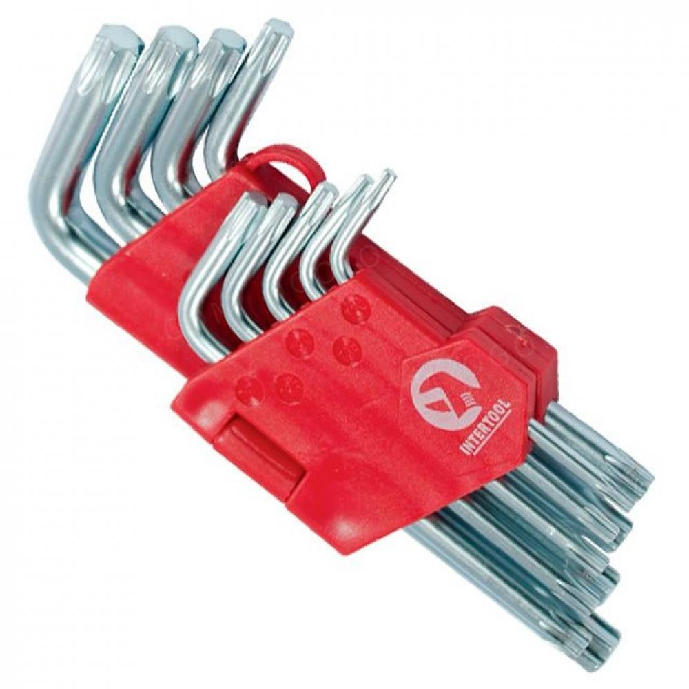 Набор Г-образных ключей TORX 9шт, Т10-Т50, Cr-V, Sma INTERTOOL HT-0607