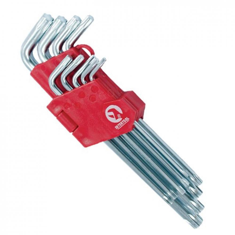 Набор Г-образных ключей TORX 9шт, Т10-Т50, Cr-V, Big INTERTOOL HT-0608