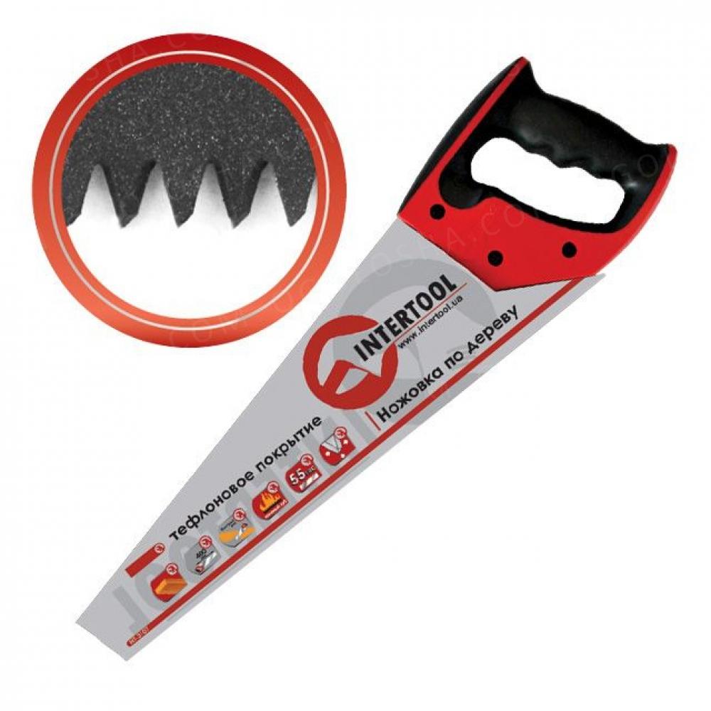 Ножовка по дереву 500мм с тефлоновым покрытием, кале INTERTOOL HT-3109