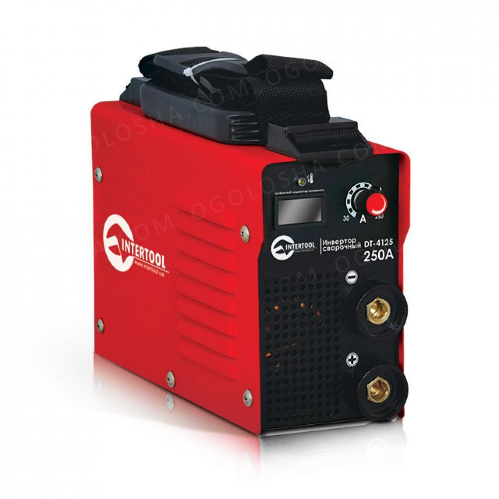 Инвертор мини 9.6кВт, 30-250А, электрод 1.6-5.0мм, INTERTOOL DT-4125