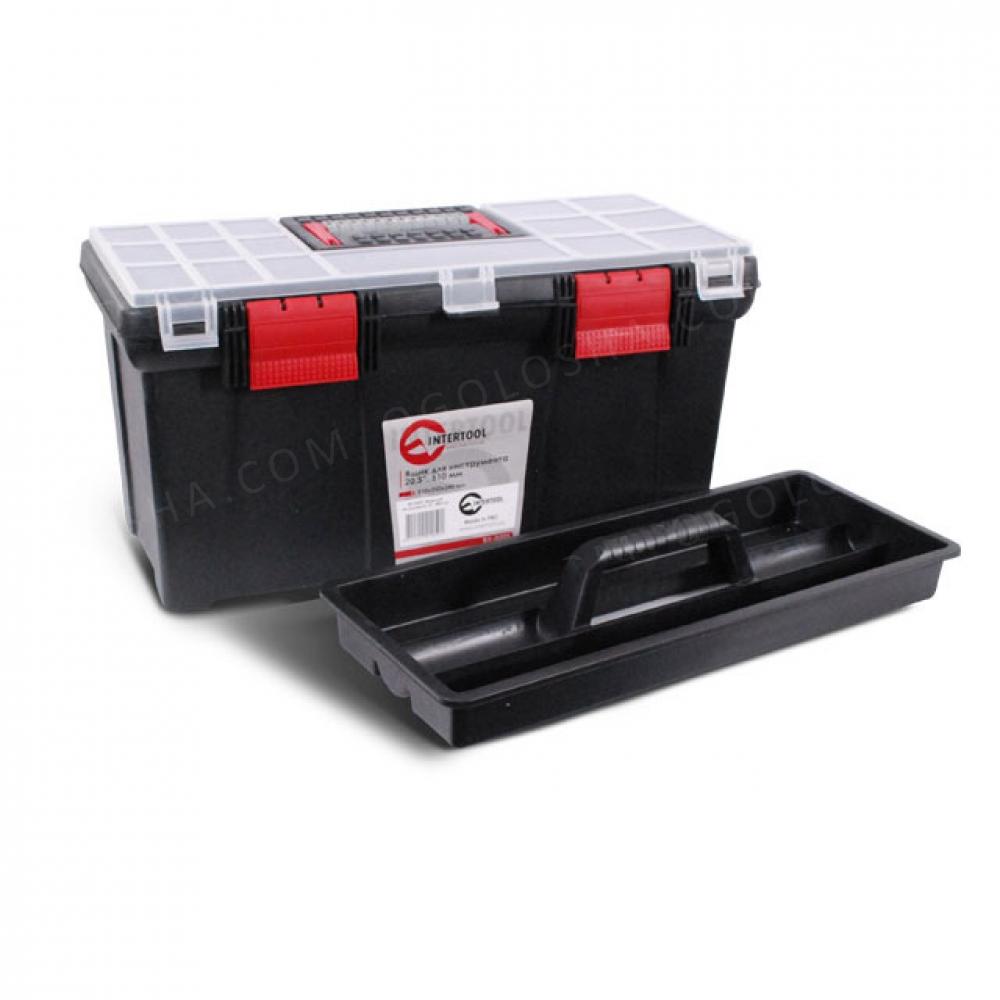 Ящик для инструмента 20.5 508*247*241мм INTERTOOL BX-0205
